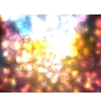 Defocused bokeh lights abstract backgound vector image vector image