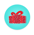 Flat long shadow gift box icon isolate vector image vector image