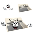 Funny cartoon isolated newspaper character vector image vector image