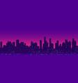 futuristic cityscape night light vector image vector image