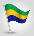 gabonese flag on pole vector image