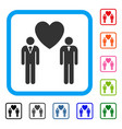 gay lovers framed icon vector image vector image