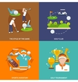 Golf flat set vector image vector image