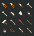 Hand tools icon set flat design vector image vector image