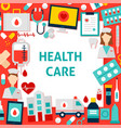 health care paper template vector image vector image