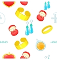 Jewelry pattern cartoon style vector image vector image