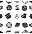 Label pattern icons in black style Big collection vector image vector image