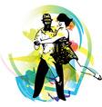Latino Dancing couple vector image vector image