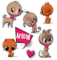 little dog and cat collection vector image