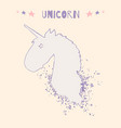 magic unicorn head logo template vector image