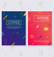 memphis style posters sets vector image vector image