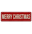 merry christmas vintage rusty metal sign vector image vector image