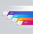modern infographic with 4 colorful bars and icons vector image vector image