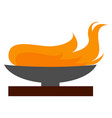 olympic flame on white background vector image vector image