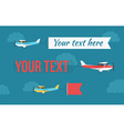 Plane with fly banners vector image vector image