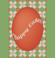 Red egg easter card on flower dot pattern vector image vector image
