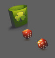 red realistic game dice set vector image