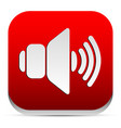 red speaker icon vector image