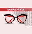 retro stylish sunglasses trendy 3d shades vector image