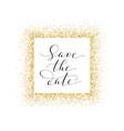 save date card hand written custom vector image