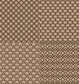 Seamless brown trellis pattern background vector image vector image