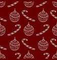 seamless pattern of white christmas symbols vector image vector image