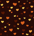 seamless pattern with hearts and dark background vector image vector image