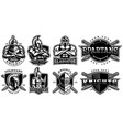 set badges with ancient warriors for white vector image vector image