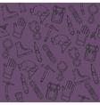 Speleologist set pattern vector image