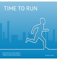 Time to run Sport in the city vector image vector image