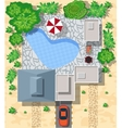 Top view of houses vector image vector image