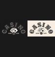 vintage monochrome gambling print vector image vector image