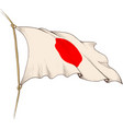 waving flag japan vector image