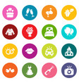 wedding icons set colorful circles vector image