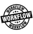 workflow round grunge black stamp vector image vector image