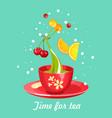 tea time card vector image