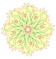 Colorful romantic round pattern with flowers vector image