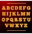 Lamp light alphabet vector image