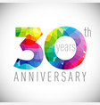 30 th anniversary facet years multicolored vector image vector image