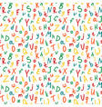 Alphabetical seamless pattern