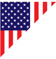 american flag corner frame with empty space vector image vector image