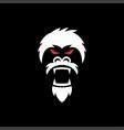 angry gorilla logo vector image vector image