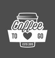 badges and labels elements for coffee vector image vector image