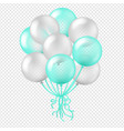 balloon in transparent background vector image vector image