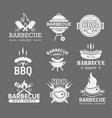 bbq white logo templates set steak house grilled vector image vector image