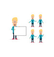 blonde business character set vector image