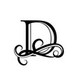 capital letter for monograms and logos beautiful vector image vector image