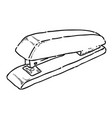 cartoon image of stapler vector image