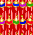 Christmas bauble and ribbons seamless pattern vector image vector image