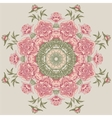 circle floral pattern with peonies vector image vector image